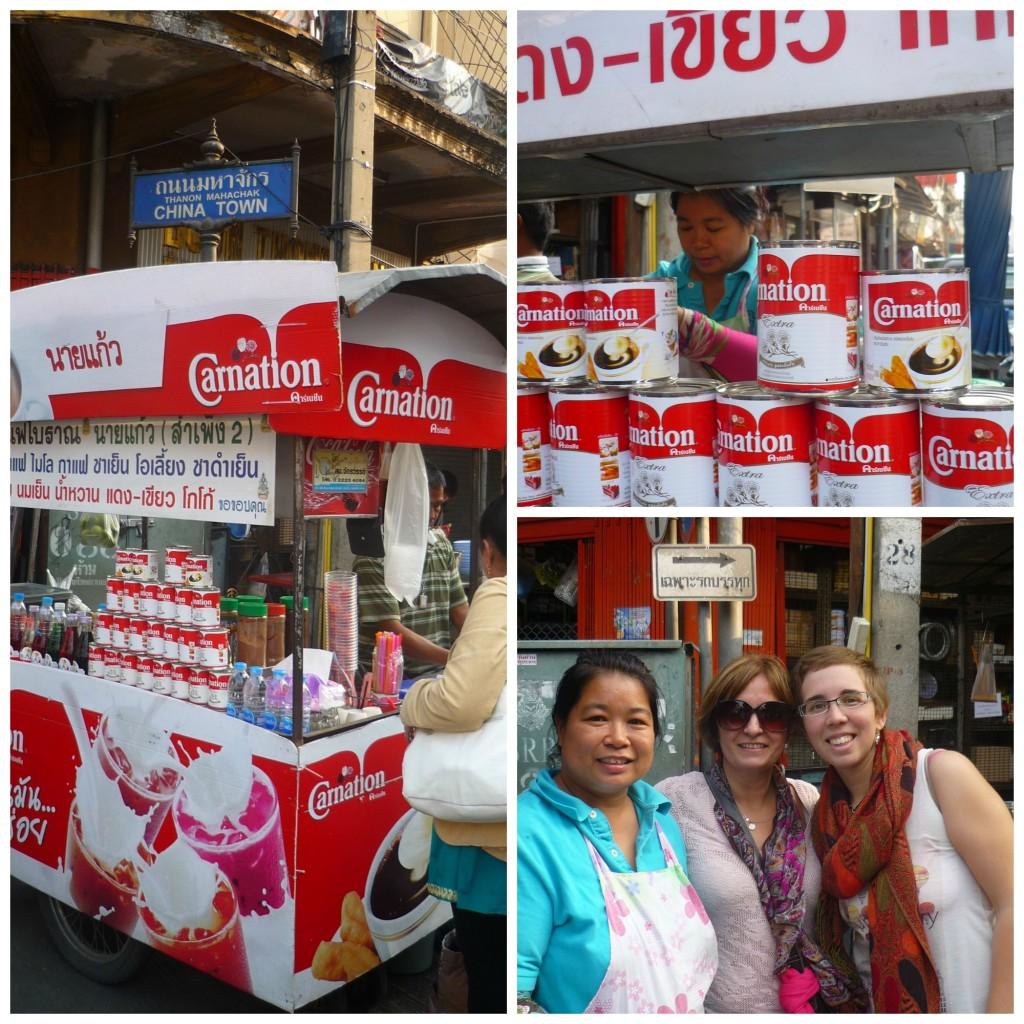 Café con leche condensada en Tailandia