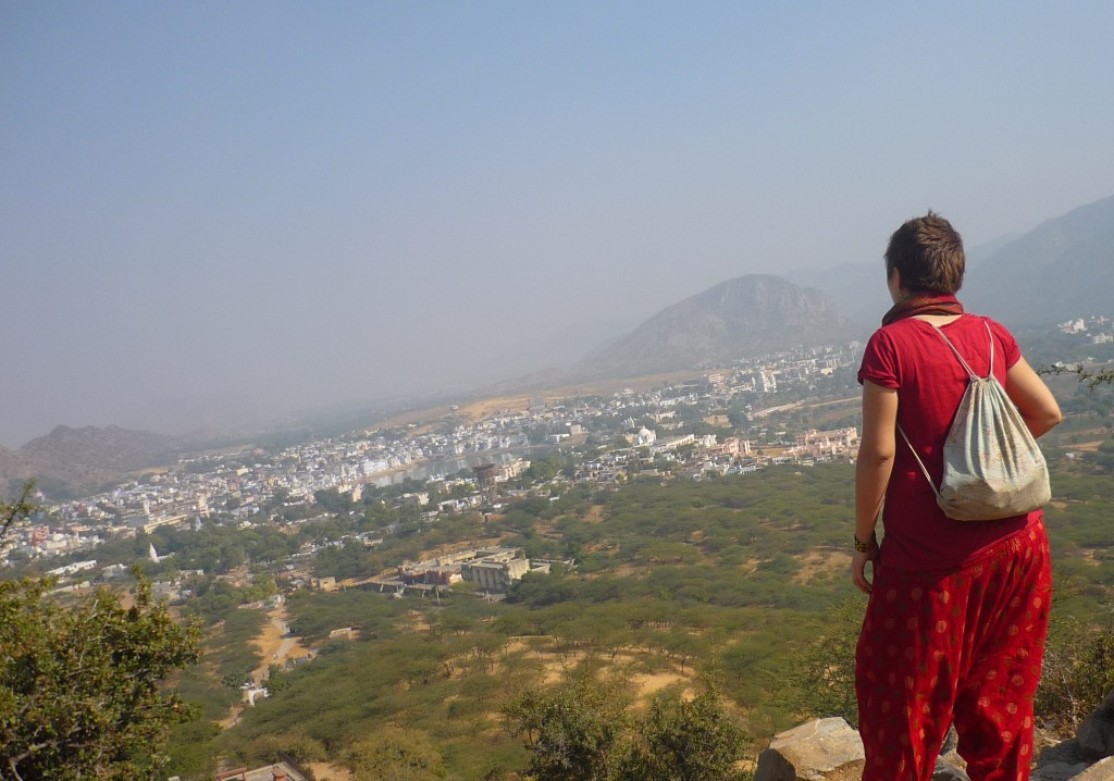 Pushkar from the temple