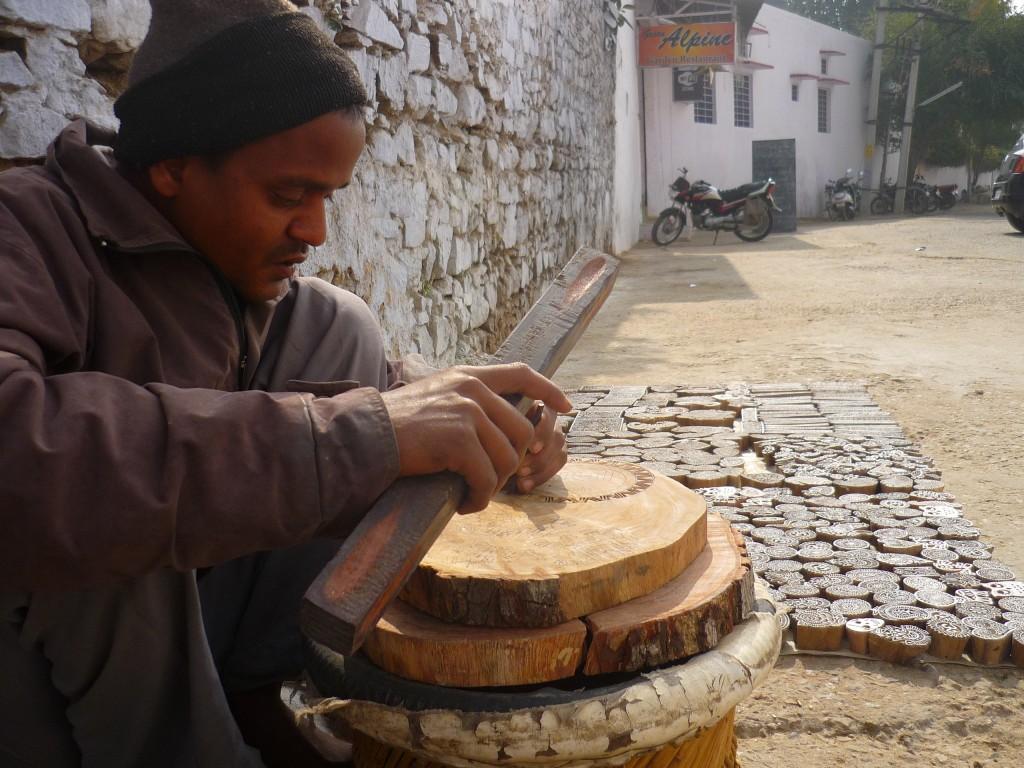Pushkar wooden stamp maker