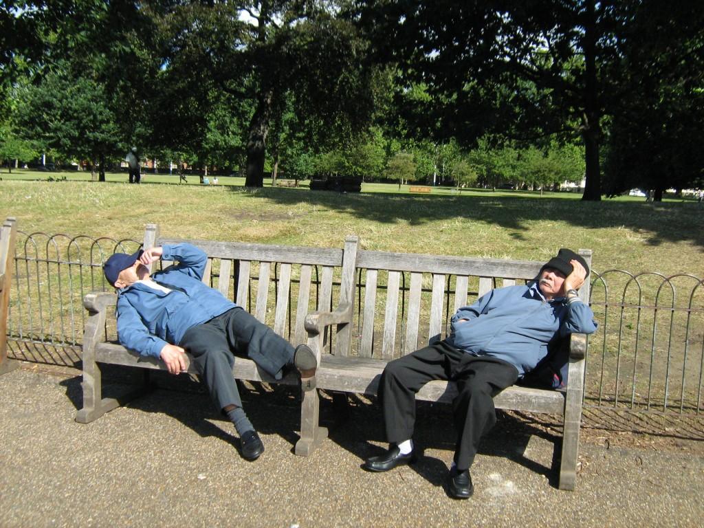Having a nap in London