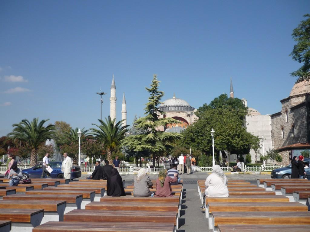 Turquía mezquita con amigos