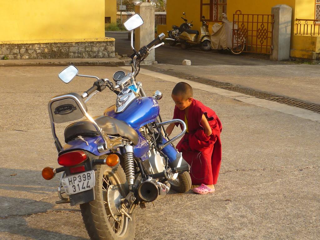 Monje tibetano en India