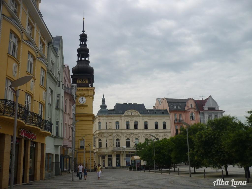 La plaza del mercado en Ostrava