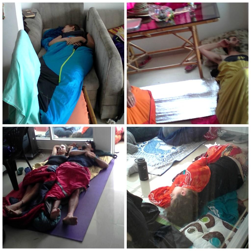 Durmiendo en el carnaval de Barranquilla