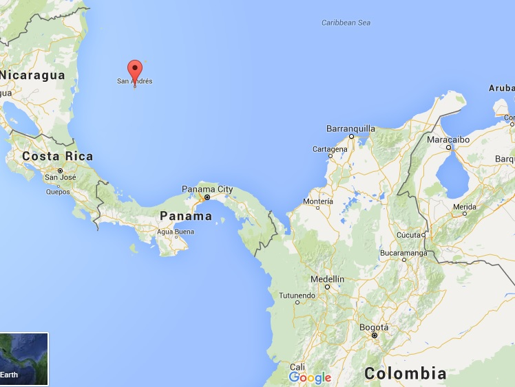 San Andres Colombia Mapa.San Andres For Backpackers The Caribbean Beyond All