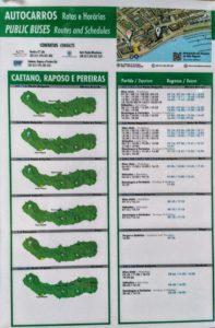 Sao Miguel Islas Azores horarios autobus