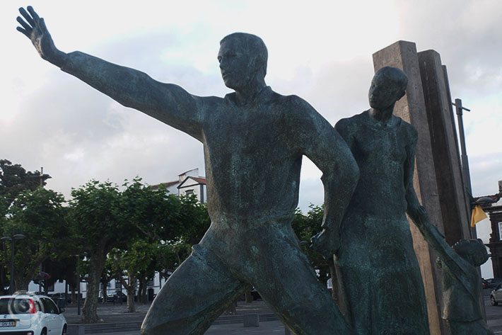 Emigrants monument in Ponta Delgada